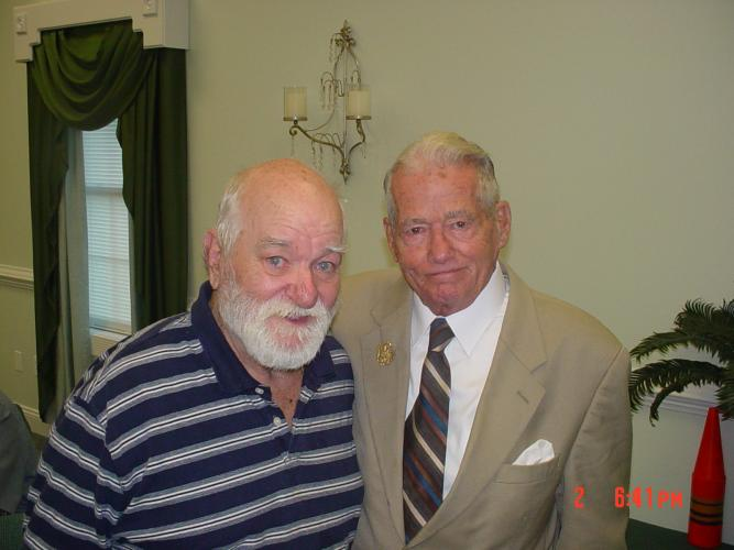 Dad at Revival with Dr.Ruckman. dad had a great